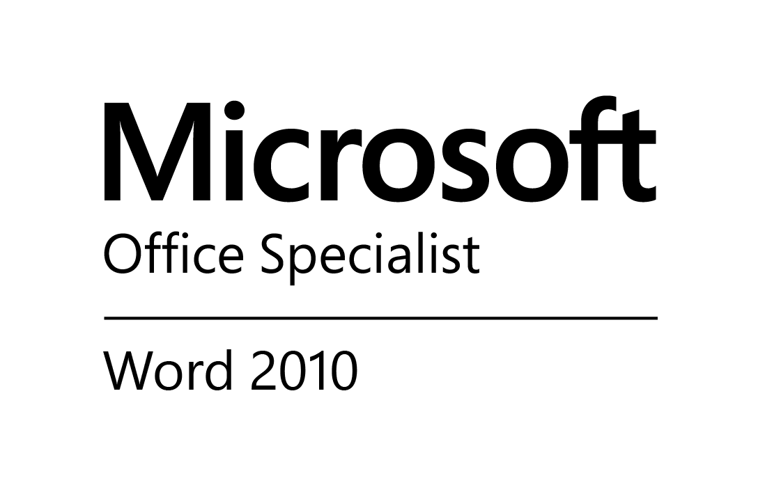 Microsoft Office Specialist Word 2010 Verification web