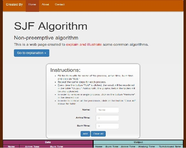Created to make algorithms learning easier