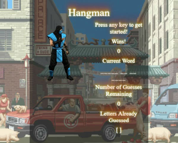Hangman music game