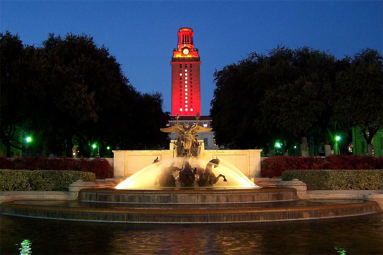 University of Texas at Austin Tower and Fountain